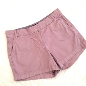 JCrew Chino Shorts Lavender Sz 10
